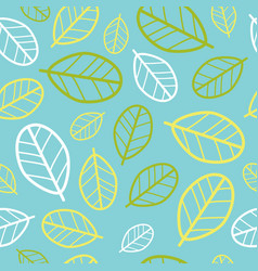 Green leaves seamless pattern springtime vector
