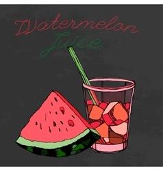 Hand drawn watermelon 02 a vector