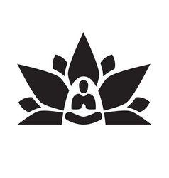 lotus yoga aura black vector image