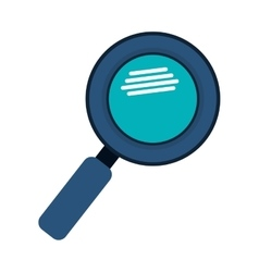 magnifying glass with with glitters vector image