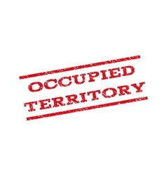 Occupied Territory Watermark Stamp vector image