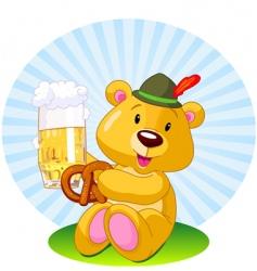 oktoberfest bear vector image vector image