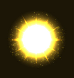 Powerful bright explosion vector