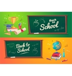 Set of school supplies and icons Back to school vector image vector image