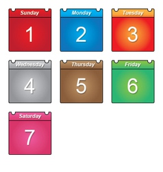 Week days vector image vector image