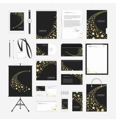 Yellow stars corporate identity template vector image