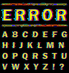 Alphabet on black background vector