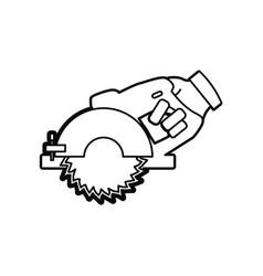 Hand circular saw carpentry tool vector