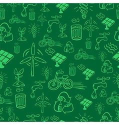 Green alternative energy pattern vector