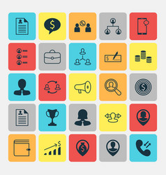 human icons set collection of talking goal vector image