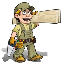 Handyman carpenter khaki vector