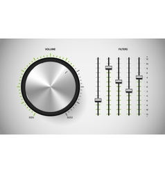 Dj media control user interface vector