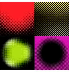 Haftones background set vector