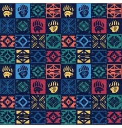 Navajo seamless colorful tribal pattern vector
