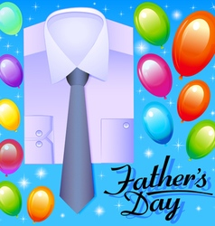 card for fathers day with balloons vector image