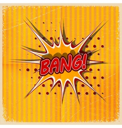 Cartoon bang on a yellow background vector