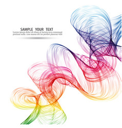 abstract color wave background rainbow wave vector image