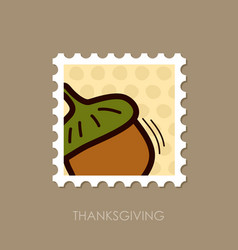 acorn stamp harvest thanksgiving vector image vector image