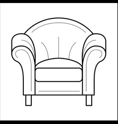 armchair for fashion cozy interior vector image