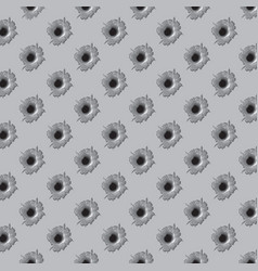 background pattern with bullet holes vector image vector image