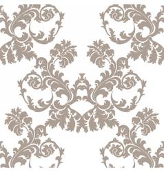 Baroque Floral Damask ornament pattern vector image vector image