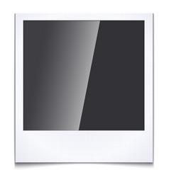 Blank photo frame vector