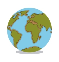 Blue and green world sphere design vector image