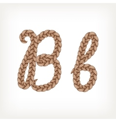 Braids hair font vector