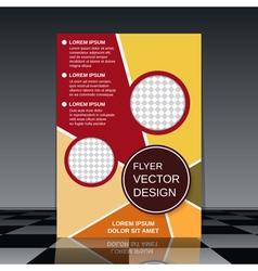 Brochure cover design template vector