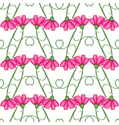 carnation pattern vector image vector image