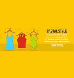 casual style banner horizontal concept vector image vector image