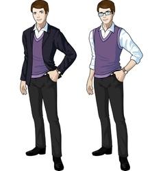 Caucasian office clerk in casual formal wear vector