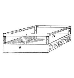 Celery crate vintage vector