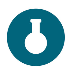 chemistry flask lab vector image