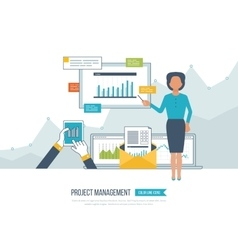 Concept for project management investment vector