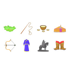 Country mongolia icons in set collection for vector
