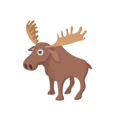 Deer icon cartoon style vector