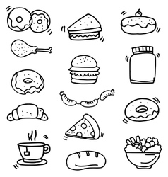 Doodle of food and drink object vector