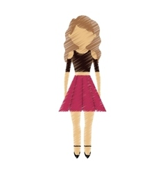 drawing avatar woman fashion modern vector image