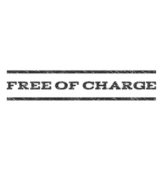 Free of charge watermark stamp vector