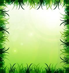Gras frame vector