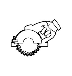 Hand circular saw carpentry tool vector