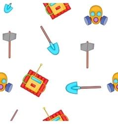 Mining elements pattern cartoon style vector