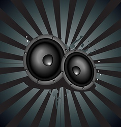 Music speaker background vector image