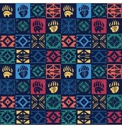 Navajo seamless colorful tribal pattern vector image vector image