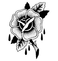 Roses tattoo sketch vector