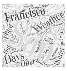 San francisco weather word cloud concept vector