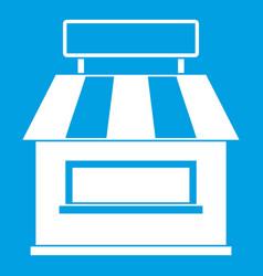 Shop building facade icon white vector