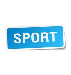 Sport square sticker on white vector