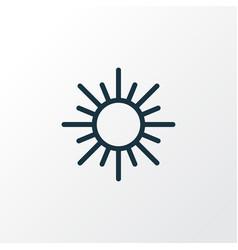 Sun outline symbol premium quality isolated sunny vector